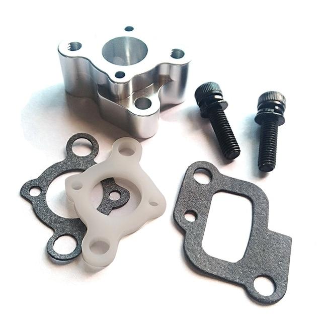 CNC Intake Manifold Set for 23 30.5Cc Gas Engine Zenoah Cy Hpi Baja 5B 5T 5Sc Losi 5Ive T Rovan King Motor|Parts & Accessories|   -