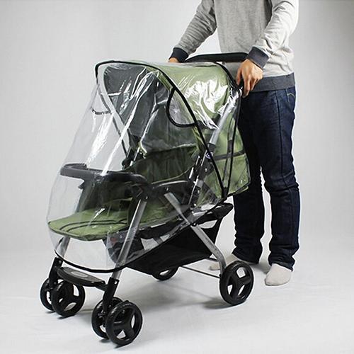 Stroller Rain Cover Universal Waterproof Wind Dust Shield Baby Stroller Pushchair Pram Rain Cover Transparent With Black New
