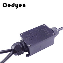 Waterproof Junction Box IP68 UV Sunproof Outdoor Multiple ways Plastic Electrical Junction Box Case Cable Wire Connector Protect
