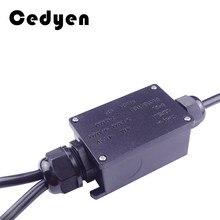 Caixa de junção impermeável ip68 uv sunproof ao ar livre múltiplas maneiras caixa de junção elétrica plástica caso cabo fio conector proteger