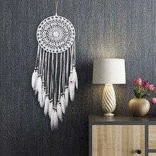 Atrapasueños de estilo nórdico hecho a mano campanas de viento colgante atrapasueños manualidades hogar niños Pared de habitación arte decoraciones colgantes