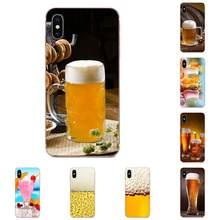 Beer A Glass Of Beer Summer Cocktai Food For Samsung Galaxy A10 A20 A20E A3 A40 A5 A50 A7 J1 J3 J4 J5 J6 J7 2016 2017 2018(China)