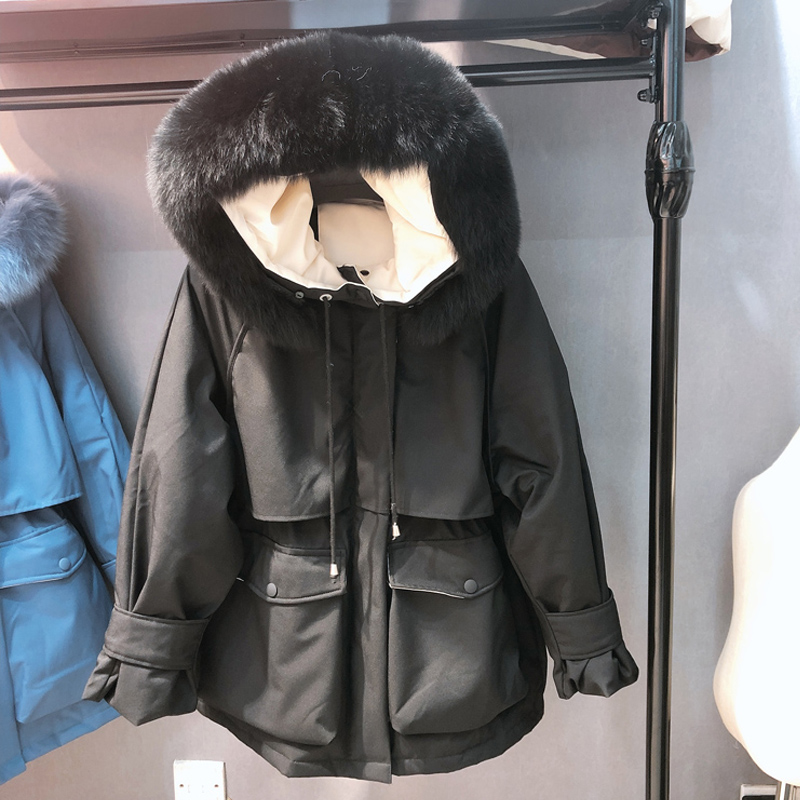 Down Hooded Real Coat