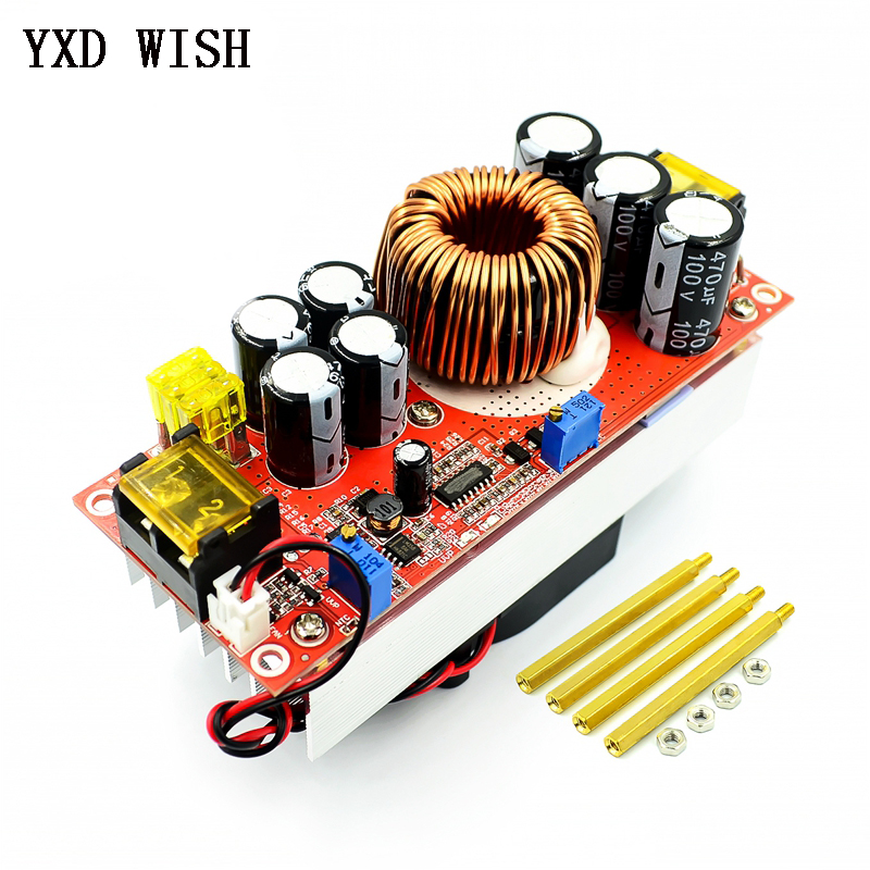 1500W 40A DC-DC Constant Voltage Constant High Current DC Boost Converter Boosts 10-60V 40A by Fan for 12-90V Boost Power Module