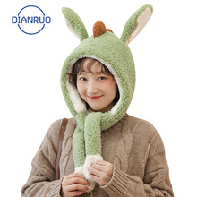 Monster Hat Scarf Plush-Bib Warm Thickened Girls Cute Windproof DIANRUO Q494 Cycling