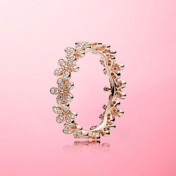 Rose Gold Color Daisy Flower Ring Rings 2ced06a52b7c24e002d45d: 6|7|8
