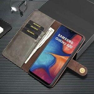 Image 3 - 2 en 1 Couverture Pour Samsung Galaxy A10 A20 A30 A40 A50 A70 A30S A50S étui en cuir véritable Détachable Flip Portefeuille Peau Livre A51 A71 Sac