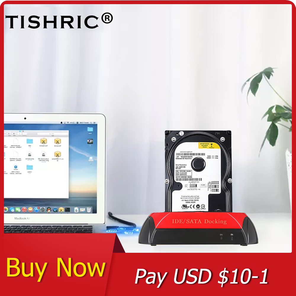 TISHRIC IDE/SATA Hard Disk Drive Docking Station SATA To USB 3.0 Adapter For HDD Enclosure 2.5/3.5 Inch Hard Disk Dock Station