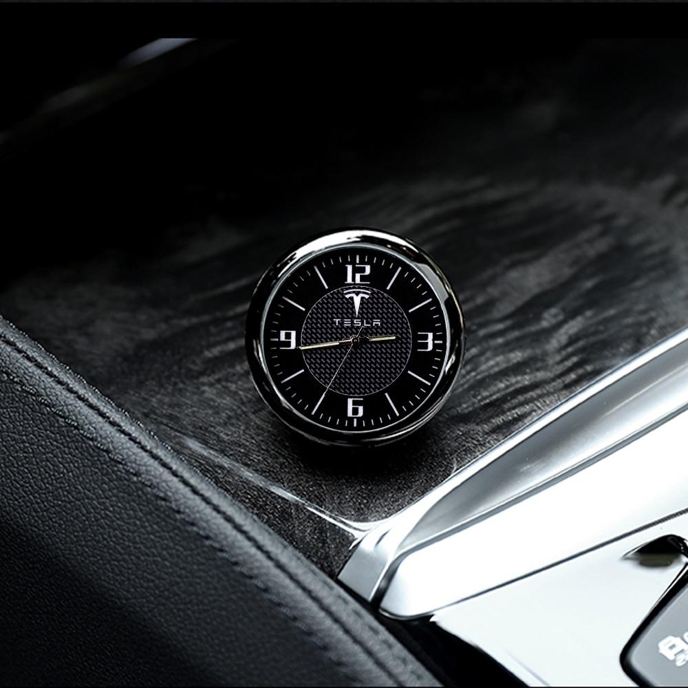 NEW Car Clock Luminous Table Refit Interior Quartz Watches Car Ornaments clock for Tesla 3 Tesla S Tesla Y 2017-2020