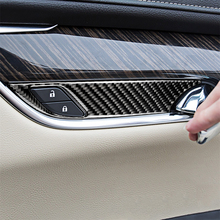 Carbon Fiber Car Interior Inner Door Bowl Decoration Cover Trim For Cadillac XT5 Car Styling Sticker Accessories 4pcs Brand New 4pcs for skoda kodiaq outside door handle bowl decoration cover carbon fiber pattern stainless steel