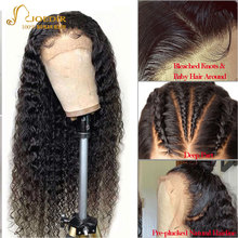 Joedir 13x4 Deep Wave Lace Front Human Hair Wig Pre Plucked With Baby Hair 150% Brazilian Deep Curly Frontal Wig For Women 30