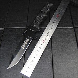 Image 5 - K10 Black fiber handle tactical straight knife black sharp hunting knife diving knife + grindstone + knife oil + knife sleeve