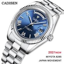 Cadisen 2021 Nieuwe Mannen Horloges Automatische Mechanische Horloge Luxe Sapphire Miyota 8285 Japan Beweging 50M Waterdicht Horloge Mannen