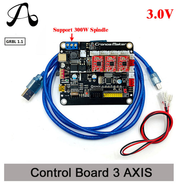 Cnc 3018 Grbl 1.1 3 Axis Stappenmotor Dubbele Y as Usb Driver Board Controller Laser Board Voor Grbl Cnc router 3 Axis Usb Board