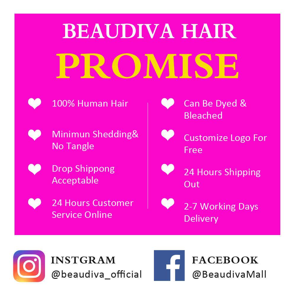 BEAUDIVA 8A бразильские волосы плетение пряди волнистые пряди для тела с фронтальной человеческие волосы 3 пряди с закрытием фронтальные волосы для наращивания