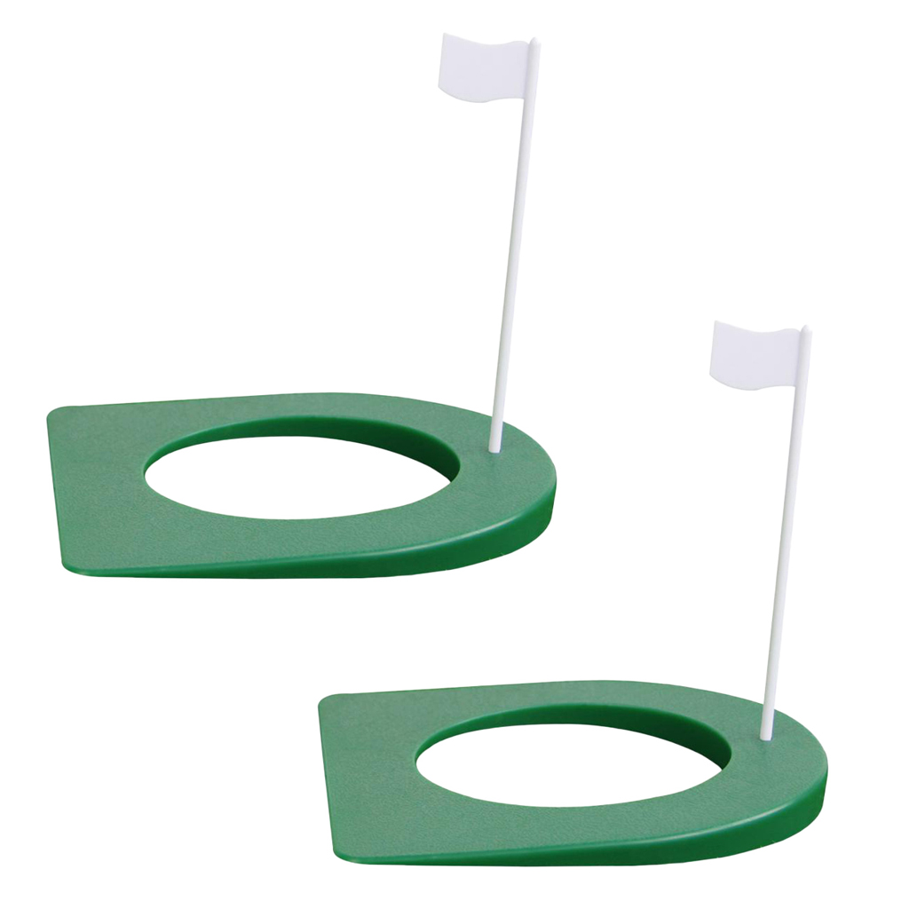 1 Pair 18x18cm Golf Home Office Outdoor Indoor Putting Practice Cup Hole Golf Training Practice Hole Golf Training Aids