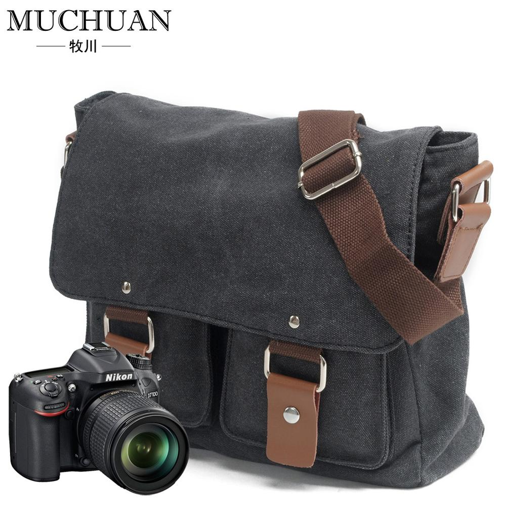 Canvas Tas Mannen En Vrouwen Messenger Bag, Een Schouder Canon Photo Bag, sony Micro Enkele Slr Nikon Camera Tas