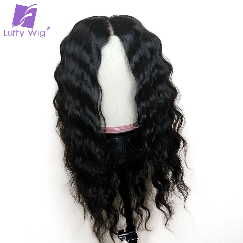 Luffy Natural Color Body Wave Indian Non Remy Human Hair Full Lace Wigs For Black Women With Baby Hair High Ponytail 130 Density