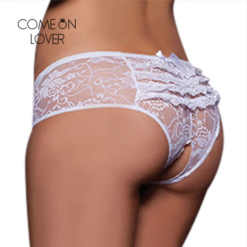 Comeonlover Sexy Panties Plus Size Hollow Out Crotchless Lace Panties 6XL Sexy Femme Bragas Mujer Underwear Women Panties PI5008