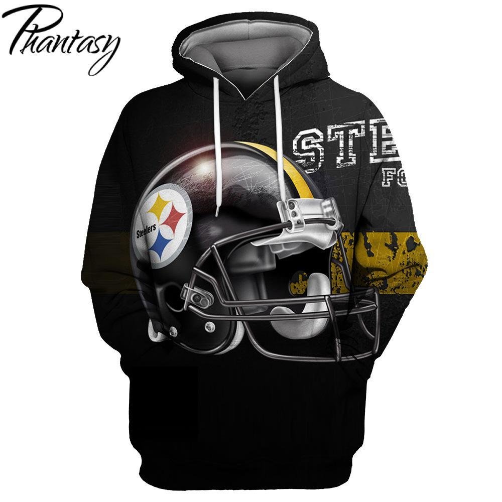 Phantasy 2020 Steelers Design Print Hoodie Rugby Streetwear 3D Women/Men Hoodie Sweatshirt Outwear Hoodie