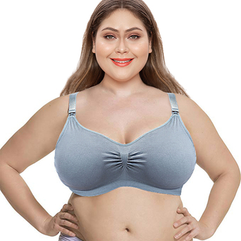 SEXYWG Women's Breathable Supportive Plus Size Cotton Maternity Nursing Front Open Pregnant Breastfeeding Bra XL-3XL - discount item  45% OFF Maternity Clothings