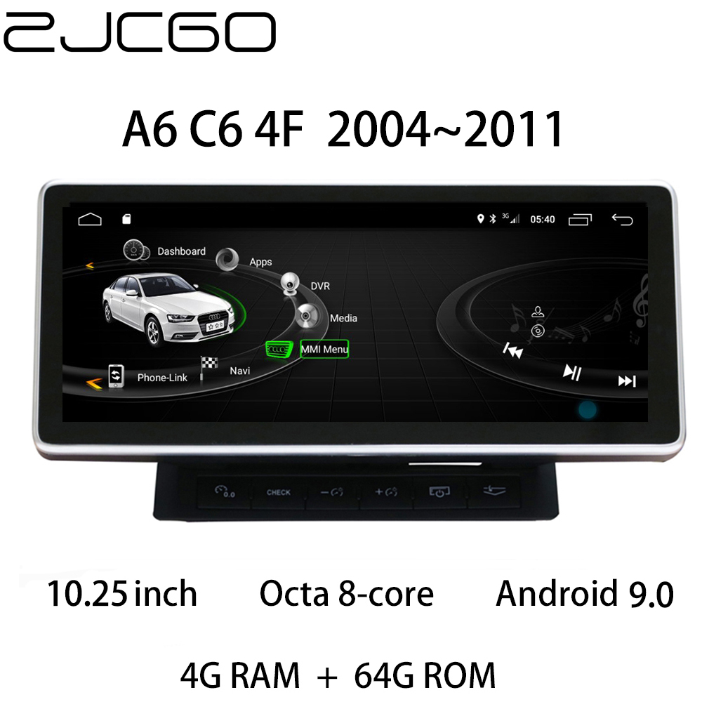 Car Multimedia Player Stereo <font><b>GPS</b></font> DVD Radio <font><b>Navigation</b></font> Android Screen Monitor MMI 2G 3G System for <font><b>Audi</b></font> <font><b>A6</b></font> S6 RS6 C6 4F 2004~2011 image