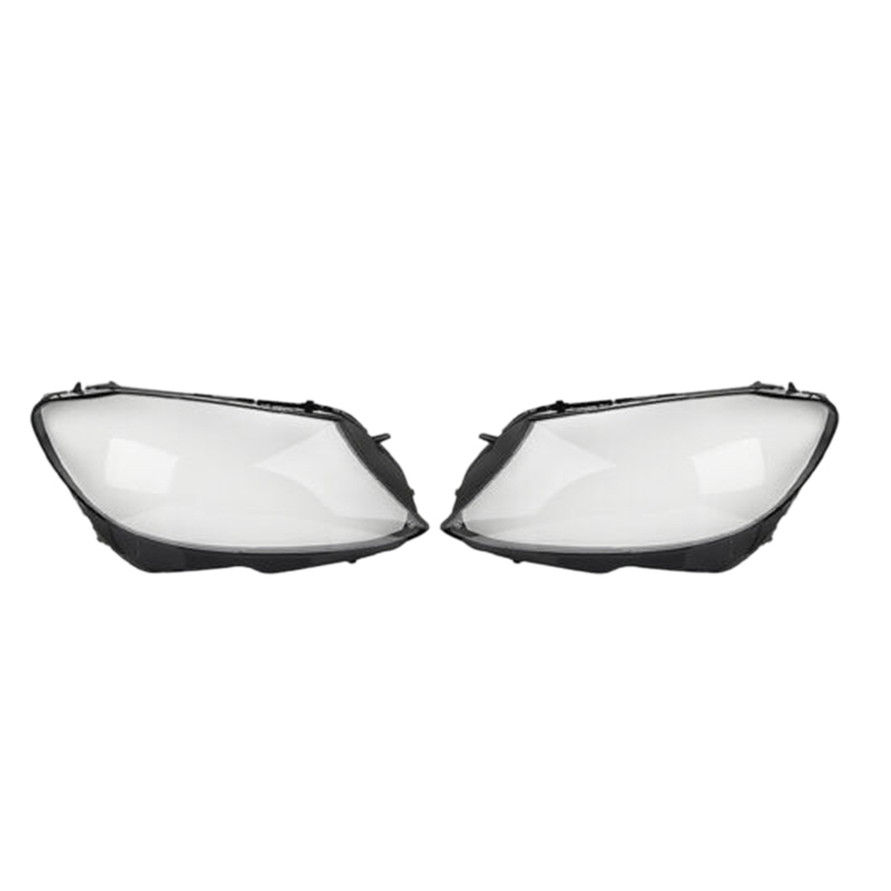 1Pair Car Clear Headlight head light lamp Lens Cover head light lamp Cover For <font><b>Mercedes</b></font> <font><b>Benz</b></font> W205 C180 C200 C260L C280 <font><b>C300</b></font> 2015 image