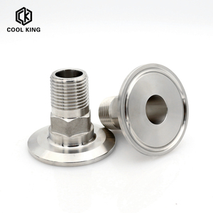 "CK BSPT 1/2"" 3/4"" 1"" 1-1/4"" 1-1/2"" 2"" Stainless Steel 304 Sanitary Hexagon Male Threaded Ferrule Pipe Fitting fit for Tri Clamp"