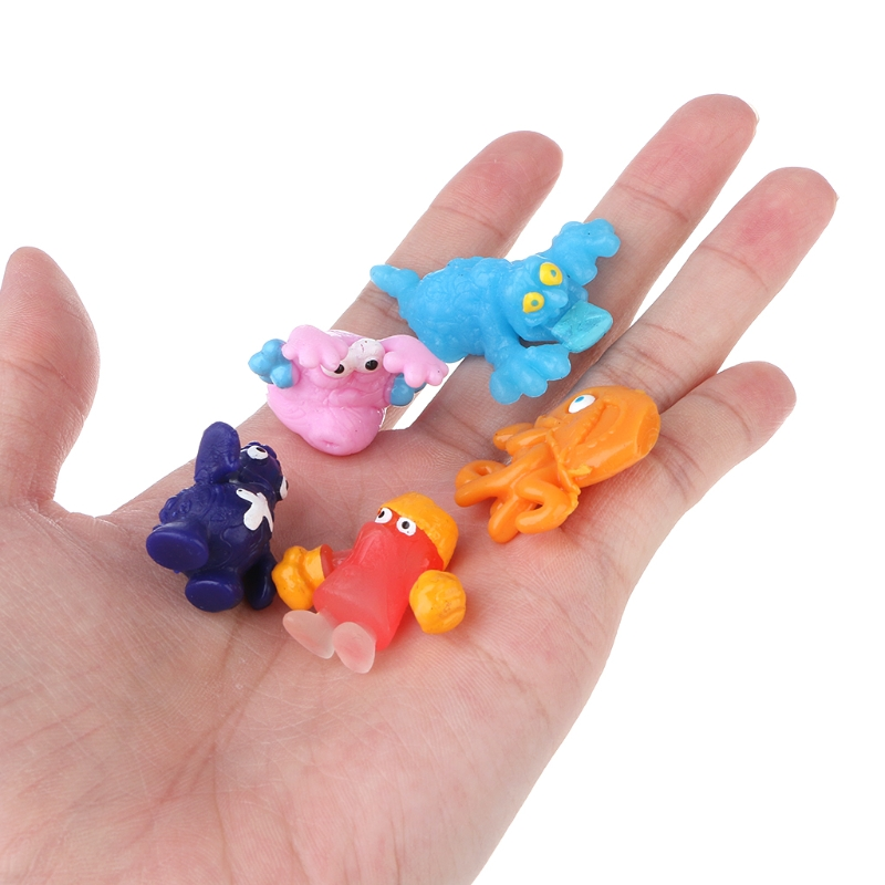 5xCartoon Figures The Grossery Gang Model Trash Bug Soft Sticky Toy Doll For Kid