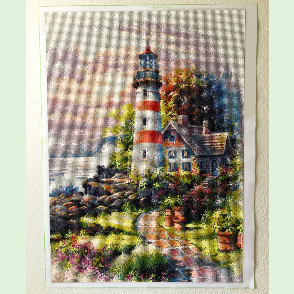 Diamond Embroidery Lighthouse 5D Full Square Diamond Painting Cross Stitch Landscape Rhinestone Pictures Home Décor 2