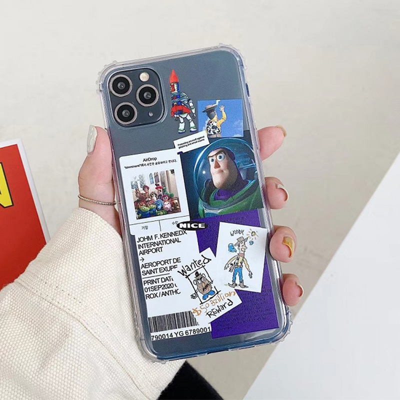 INS Cute Toy Story cartoon woody Buzz Lightyear phone Case For iPhone X XS Max Xr 11 11pro 8 7 Plus Alien Clear Soft Cover Coque(China)