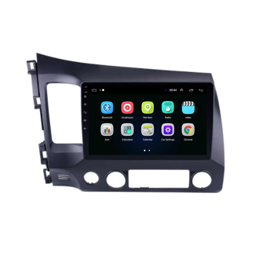Quad core Android 8.1 Fit HONDA CIVIC 2008 2009 2010 2011 Multimedia Stereo Auto DVD Speler Navigatie GPS Radio