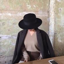 VRIGINER High Quality Autumn Winter Fedora Hat Woman Fashion Big Women 100% Wool