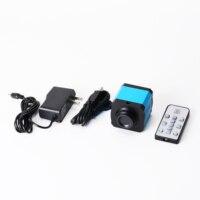 Hd 21mp 2 k 1080 p 60fps câmera industrial hdmi usb saída simultânea microscópio lupa tf telefone de armazenamento placa mãe reparo|Microscópios| |  -