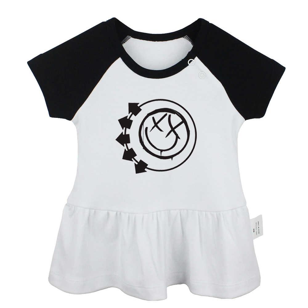 Slayer Amerikaanse Beroemde Snelheid Band Blink 182 Punk Band Oh Mijn God Ontwerp Pasgeboren Baby Meisjes Jurken Peuter Baby Katoenen kleding