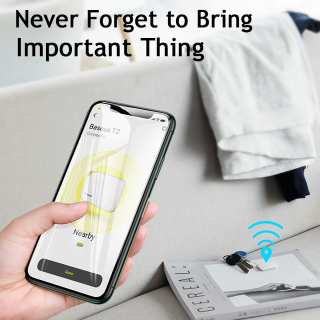 Baseus Wireless Smart Tracker Anti-lost Alarm Tracker Key Finder Child Bag Wallet Finder GPS Locator Anti Lost Alarm Tag 2 types Computer, Office & Security