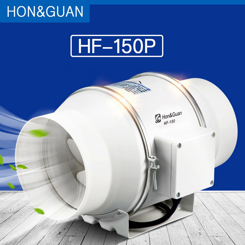 "4/"" 6/"" 8/"" Flow Inline Duct Fan Hydroponic Extractor Fan Vent Exhaust Air Blower"