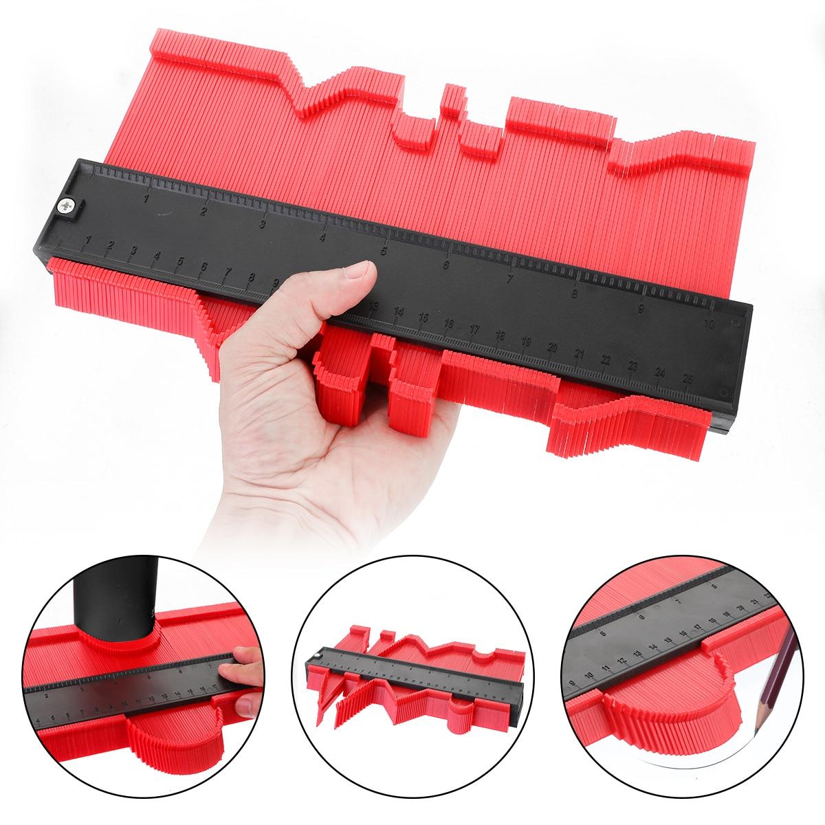 12/14/25/50 Cm Contour Gauge Plastic Profile Copy Contour Gauges Standard Wood Marking Tool Tiling Laminate Tiles Tools