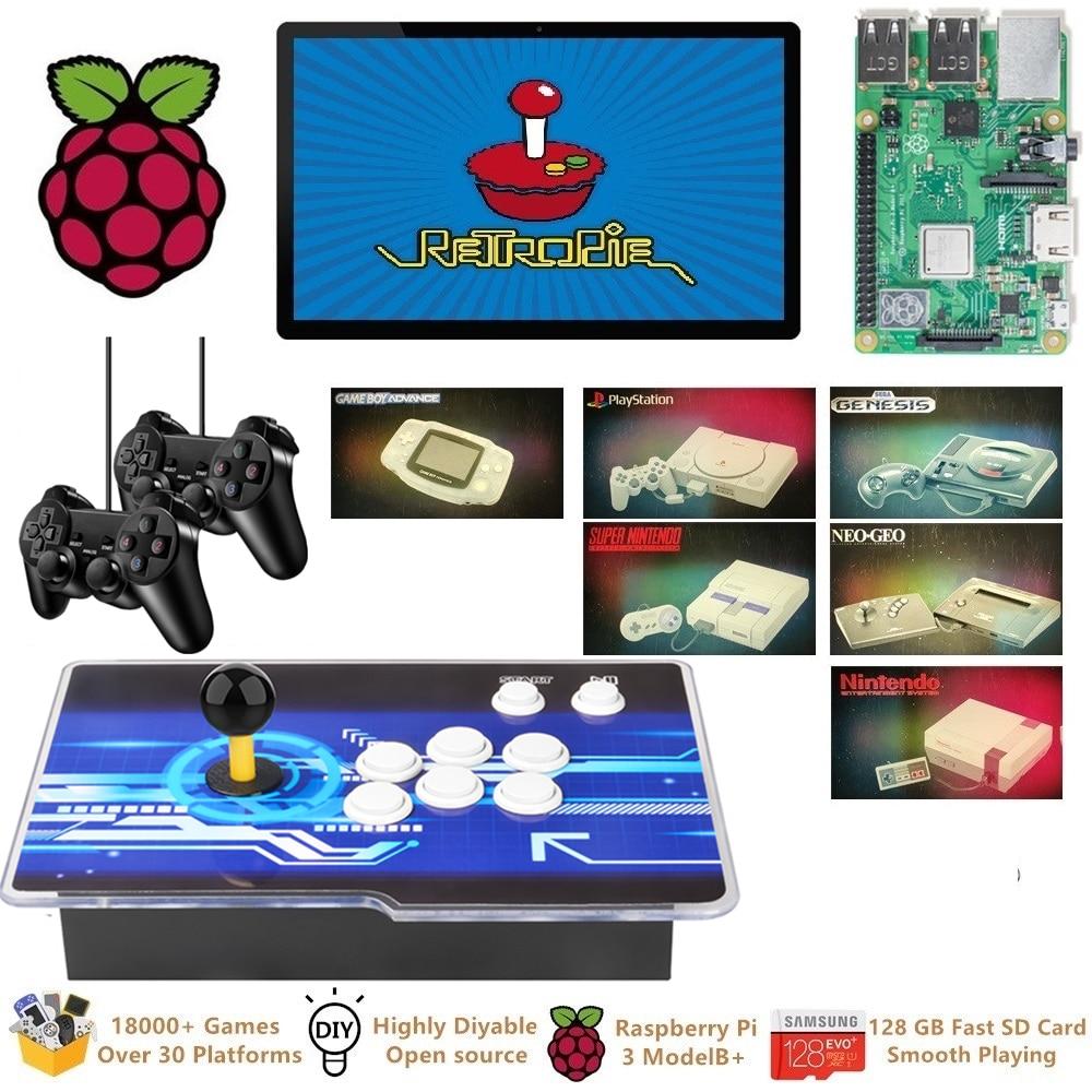 Raspberry Pi 3 Model B  Plus Arcade Video Game Console  Retropie Arcade Cabinet Machine DIY 18000  Retro Games Emulation Station
