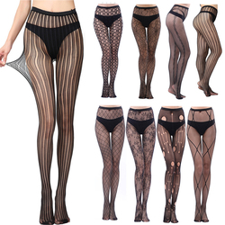 Fashion Thin Women Pantyhose Sexy Solid Fishnet Tight for Women Hollow Out Black Tights Sexy Lingerie Collant Femme 1/2pcs