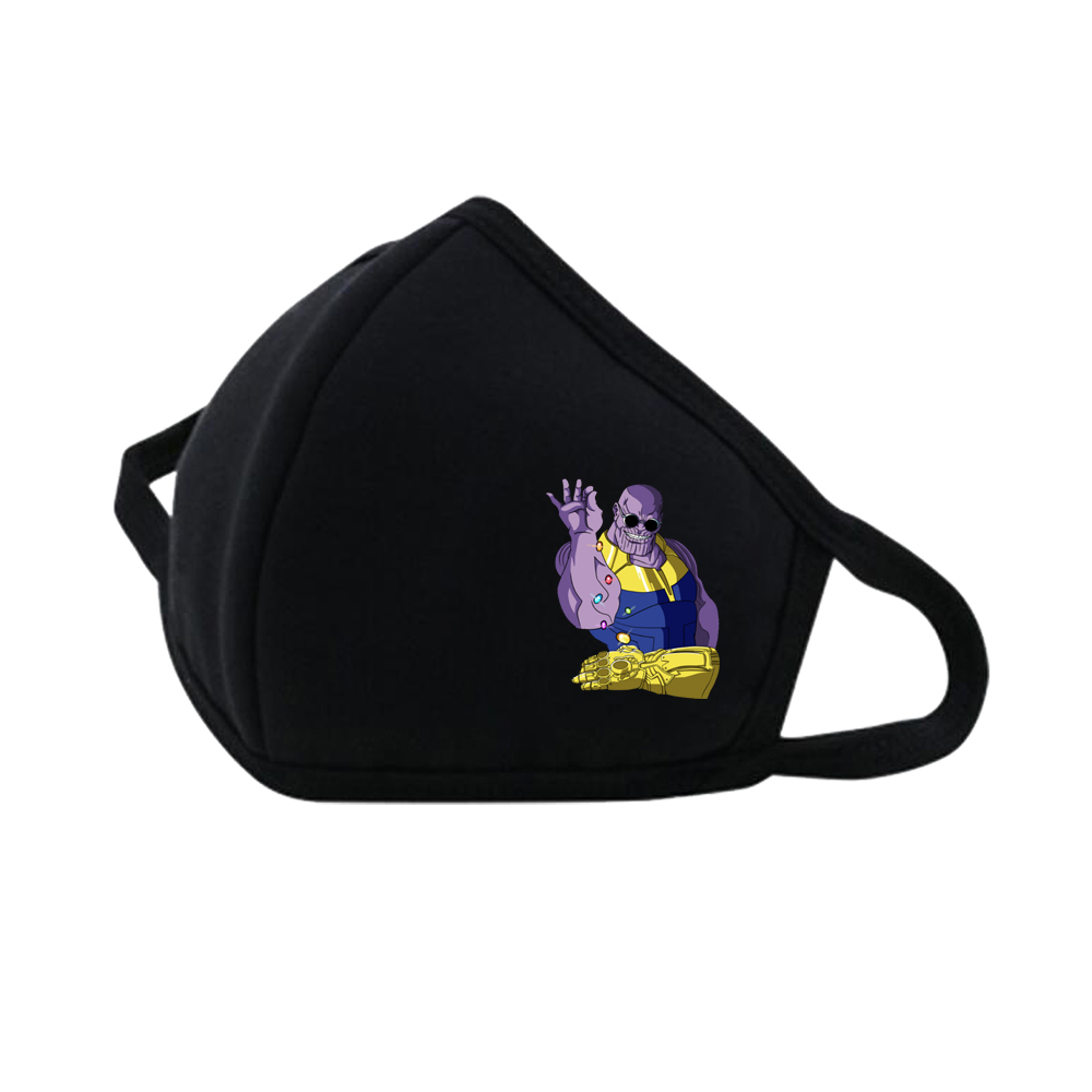 Anime Thanos Mouth Face Mask DustpRespirator Fashion Black Face Mask Muffle Cute Printed Women Man Cotton Mask