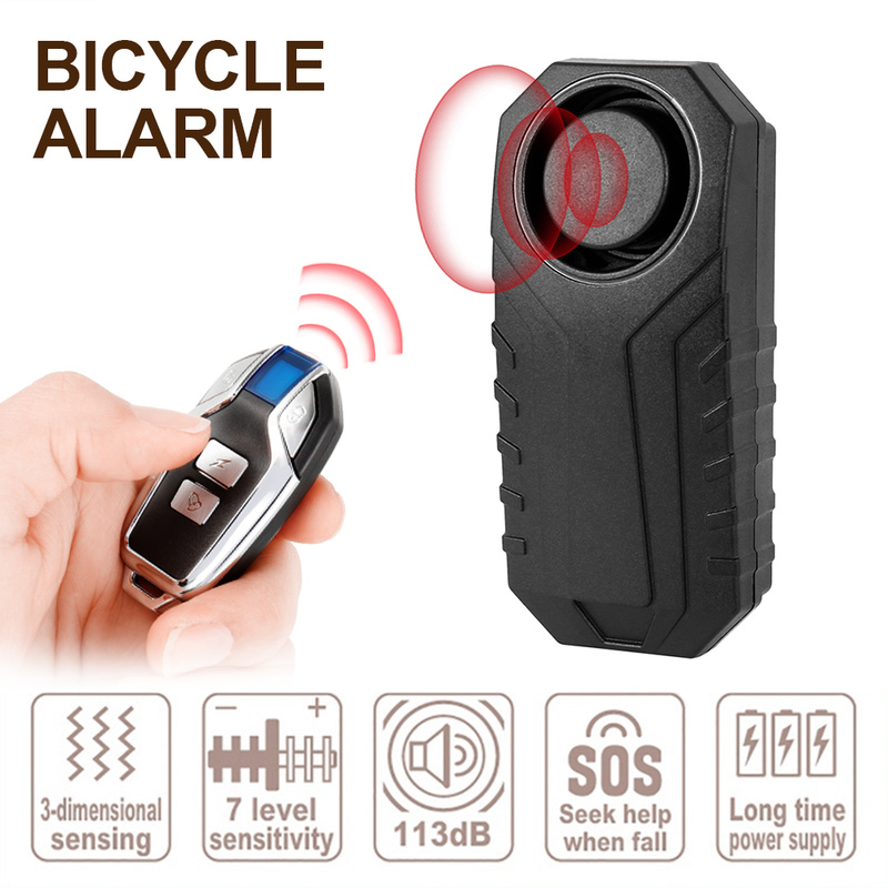 Wireless Anti-Theft Vibration Bike Bicycle Security Alarm Horn USB Rechargeable