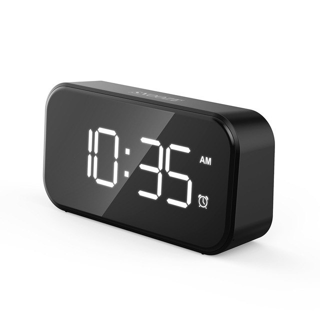 Fashion Full LED Screen Alarm Clock Touch Snooze Table Alarm Desktop Electronic Clock 2021 New Style Office Bedroom Decoration