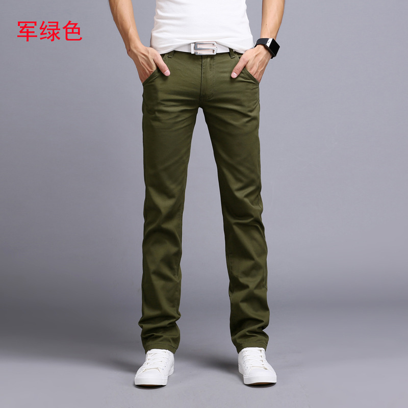2019 Spring autumn New Casual Pants Men Cotton Slim Fit Chinos Fashion Trousers Male Brand Clothing 9 colors Plus Size 28-38 3