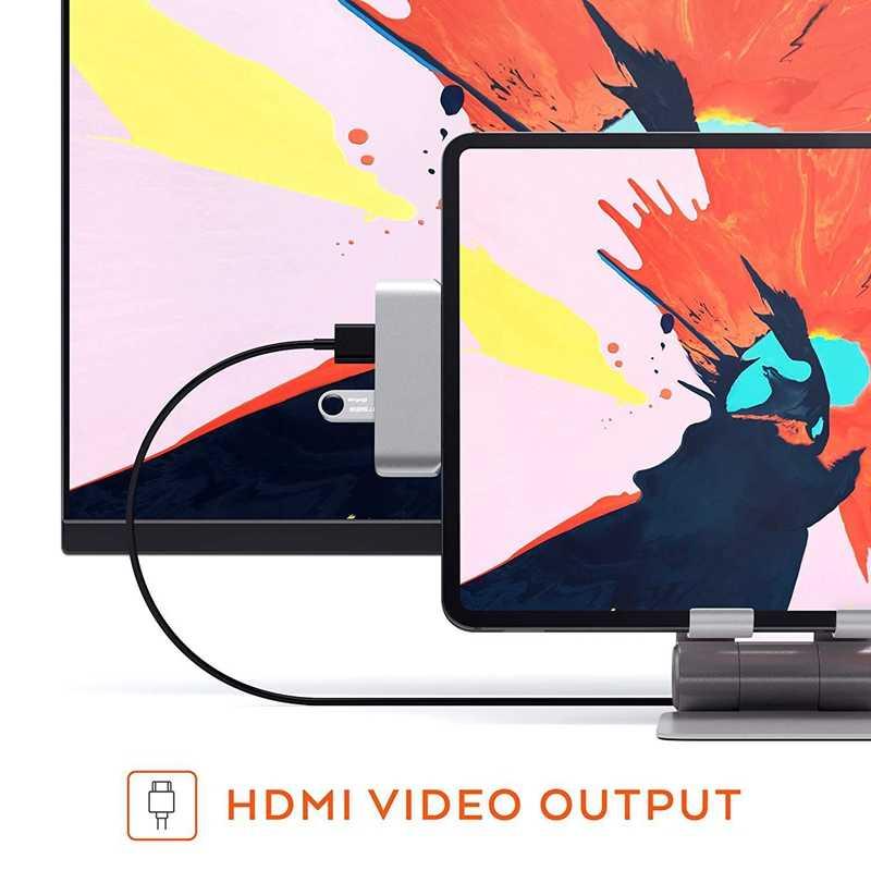 USB3.1 piasta typu C Mobile Pro USB-C/ładowanie PD/4 K HDMI/USB 3.1/gniazdo jack do słuchawek 3.5mm na 2018 iPad Pro