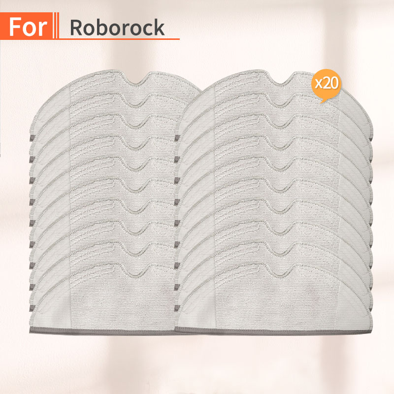20PCS Vacuum Cleaner Cleaning Cloth Accessories For Xiaomi 1S 2S Roborock S50 S55 S51 Robot Vacuum Replacement Parts
