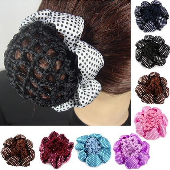 Womens Bun Cover Hair Snood Ballet Dance Skating Crochet Hair Net Hair Accessory