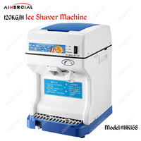 HK168 commercial ice shaver machine electric ice crusher machine ice crusher blender with capacity 120KG/H