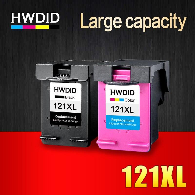 HWDID 121XL Refil Preto/Cor Do Cartucho De Tinta para hp 121 XL cartucho de tinta para hp 121 com hp Deskjet ink D2563 f4283 F2423 F2483