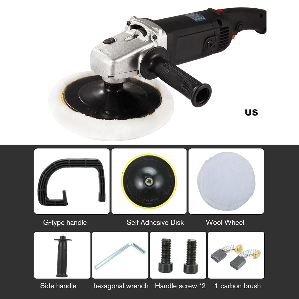Electric Car Grinder Polisher 3000RPM 6 Adjustable Speed Auto Polishing Machine Sanding Waxing Power Tools